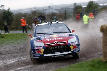 Citroen and Loeb lead after Day 1 of Rally Great Britain
