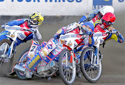 Three-time World Speedway Champion Jason Crump in action
