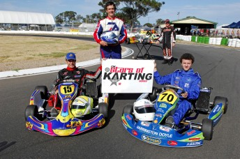 The new name and look for the 2010 CIK Stars of Karting Series was unveiled today. Pic: photowagon.com.au