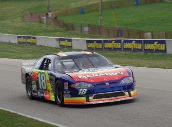 Wisconsin native and Sprint Cup driver Paul Menard took victory in a lower level NASCAR race at Road America in 2001