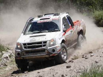 Bruce Garland and Harry Suzuki on stage 1 of the 2010 Dakar Rally