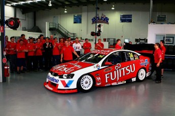 Garry Rogers unveiled its 2010 sponsor Fujitsu in November last year