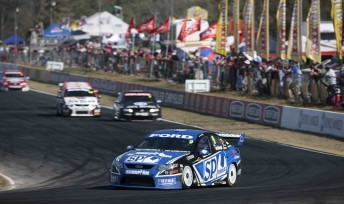 Stone Brothers Racing's Shane van Gisbergen at Queensland Raceway last year