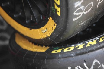 The yellow-banded Dunlop tyres will only be seen on Sundays in four rounds of the V8 Supercars Championship Series