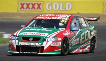 Greg Murphy at Queensland Raceway's test yesterday
