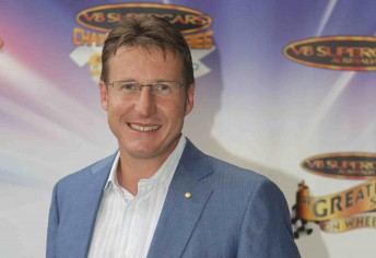 Mark Skaife at the V8 Supercars season launch in Sydney last week