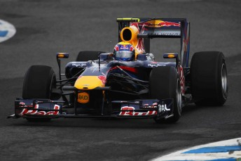 Mark Webber in the all-new RB6 at Jerez yesterday