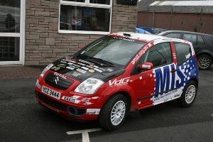 The Citroen C2 Molly Taylor will drive at the Bulldog Rally