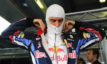Mark Webber prepares for today's practice sessions