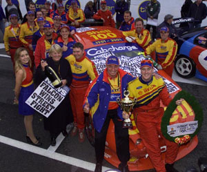 Steven Johnson's first V8 Supercars round win on the streets of Canberra in 2001 (Pic: Courtesy of www.djr.com.au)