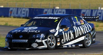 Jonny Reid drove Todd Kelly's car in the first practice session at Queensland Raceway today