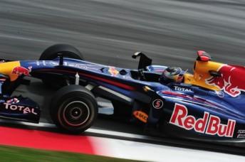 Sebastian Vettel in his Red Bull racer