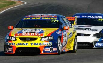 Sonic Motor Racing drivers Rodney Jane and Tim Blanchard at Winton last week