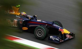 Australian Mark Webber beat his team-mate to pole in Spain