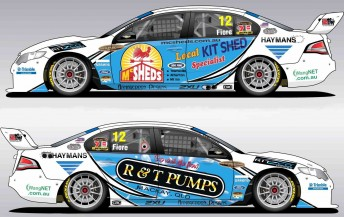 The left and right hand sides of Dean Fiore's Falcon FG that he will compete in at Townsville