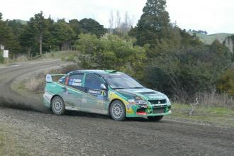 Hayden Paddon is the halfway leader at the Rally Whangarei
