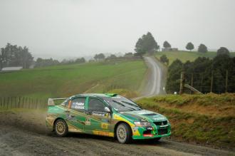 Hayden Paddon has dominated the Internatonal Rally of Whangarei