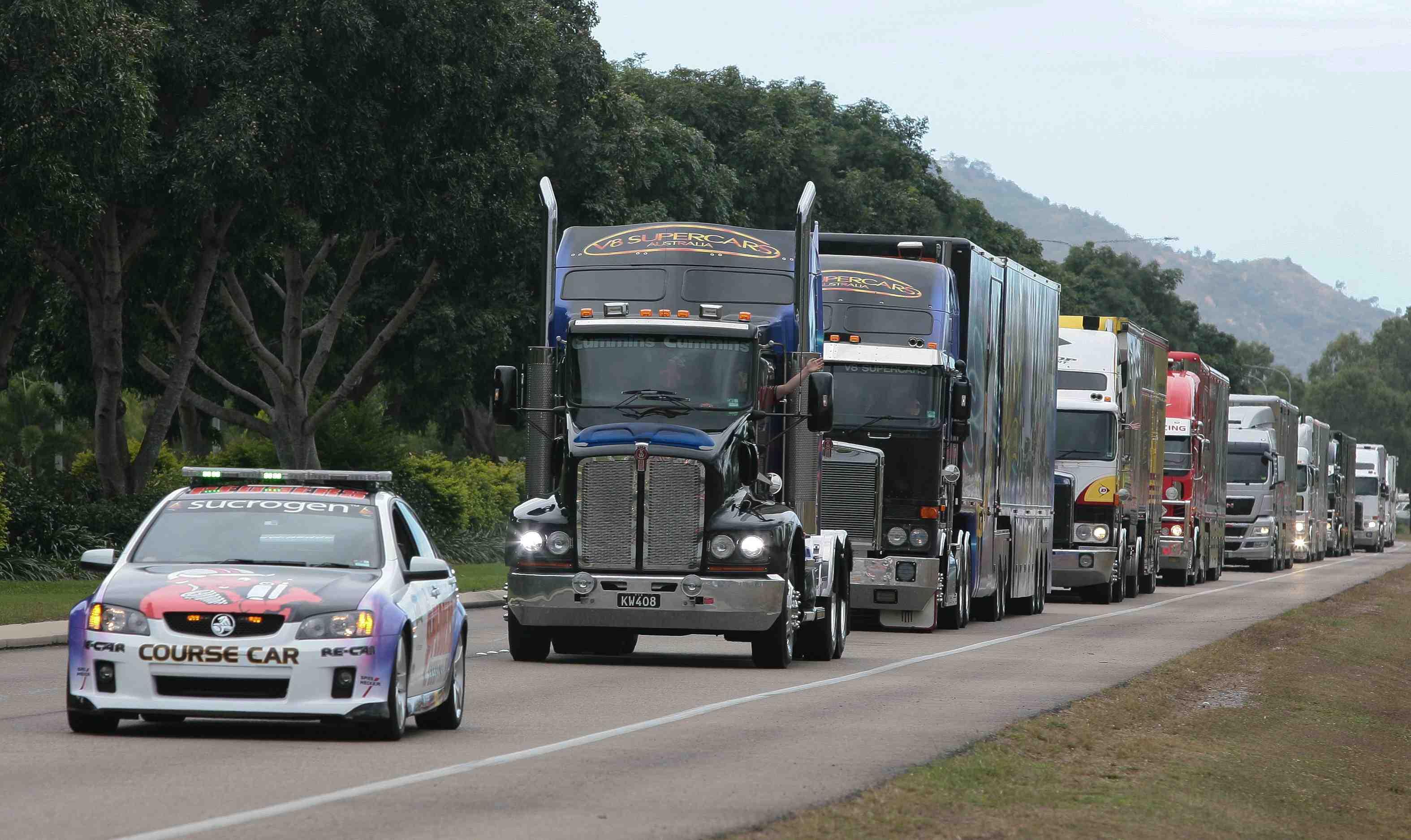 V8 Truck Convoy Arrives In Townsville Speedcafe