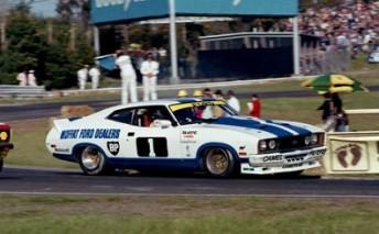 Allan Moffat in his XC Falcon Cobra at Sandown in 1978