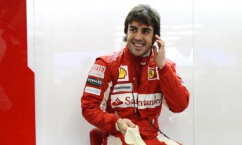 Fernando Alonso will start from pole position at the Singtel Singapore Grand Prix