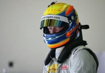 Robert Cregan has tested a V8 Supercar at Winton today