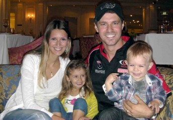 Tiago Monteiro with his young family on the Gold Coast