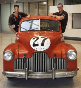 Jamie Whincup and Craig Lowndes with the 48-215 Holden