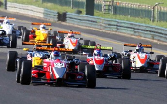 The start of the F3 race at Sandown recently