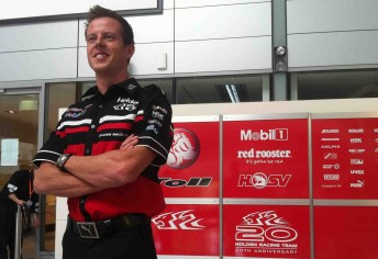 James Courtney's first day in Toll Holden Racing Team colours