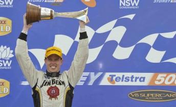 James Courtney celebrates his 2010 V8 Supercars Championship win