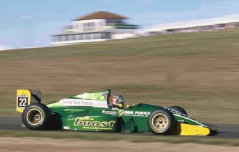 Tim Leahey in his Formula Holden at Oran Park