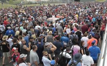 The huge crowd at Eastern Creek on Saturday