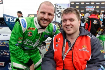 V8 racer Paul Dumbrell with his brother Lucas