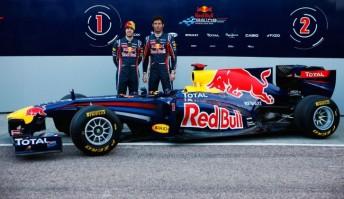 Sebastian Vettel and Mark Webber with the RBR7