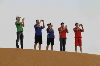 In amongst the bright lights of the Abu Dhabi city and its race circuit, it can be easy to forget that you are in the desert ...