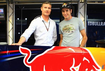 David Coulthard and Rick Kelly will compete against each other in the Red Bull Race Off at the AGP this year