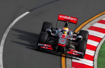 Lewis Hamilton will start the season's opening race from P2