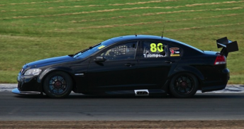 Andrew Thompson at Queensland Raceway today (Pic: Ben Kelso)