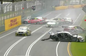 The carnage at Albert Park (Pic: Network Ten)