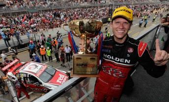Garth Tander won both races in Adelaide last year