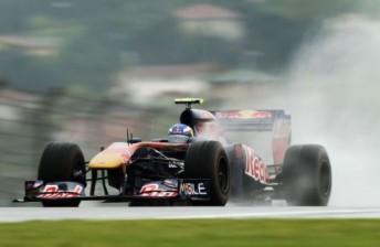 Ricciardo at speed in the STR6