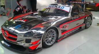 Hackett's SLS will hit the track with Simonsen at the wheel today