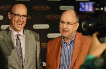 Archer Capital's Andrew Gray and V8 Supercars Chairman Tony Cochrane
