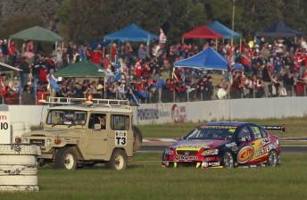 Warren Luff endured electrical problems at Winton Motor Raceway