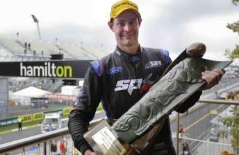 Shane van Gisbergen on the Hamilton podium