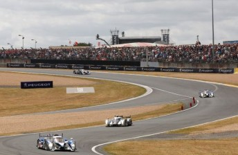 The #2 Audi has had to contend with three 908s