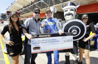 The Armor All Pole Award has become a traditional prize in V8 Supercars