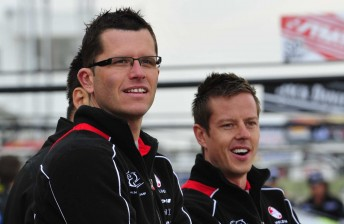 Toll HRT drivers Garth Tander and James Courtney