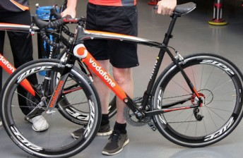 The custom made Two3 bikes in the TeamVodafone livery