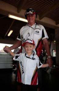 Jett Johnson with his five-time ATCC winning grandfather Dick Johnson